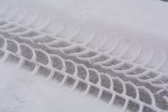 在雪的踩 库存图片
