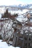 在雪的邮箱 免版税库存照片