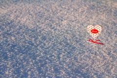 在雪的重点 图库摄影