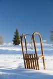 在雪的雪撬 免版税库存照片