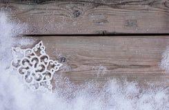 在雪的雪花 库存图片