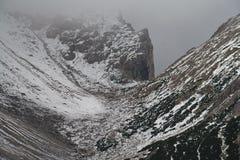 在雪的Dachstein Rachkar 免版税图库摄影
