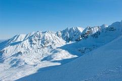 在雪的Tatra山。 免版税库存图片
