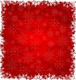 在雪花做的圣诞节边界 向量例证
