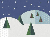 在雪花的圣诞快乐 免版税库存照片