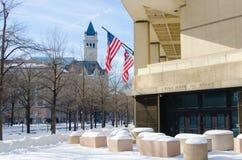 在雪风暴以后的华盛顿特区, 2016年1月 免版税图库摄影