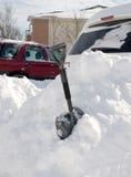 在雪风暴以后 免版税图库摄影
