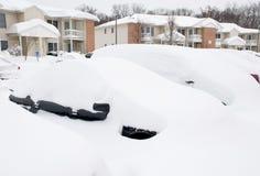 在雪风暴以后 免版税库存照片