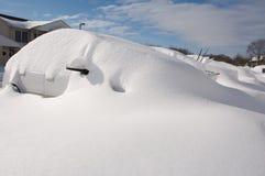 在雪风暴以后 免版税库存图片