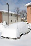 在雪风暴以后 库存照片