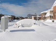 在雪风暴以后 库存图片