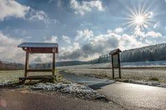在雪以后的天 免版税图库摄影
