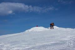 在雪靴的冬天高涨 免版税图库摄影