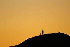 在雷东多海滩的晚上阳光 免版税图库摄影