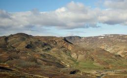 在雷克雅未克冰岛之外的风景 免版税图库摄影