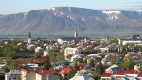 在雷克雅未克冰岛的看法 影视素材