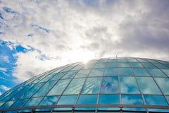 在雷克雅未克天空的蓝色冰岛 免版税库存图片