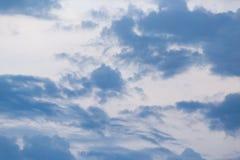 在雷暴以后的云彩 库存图片