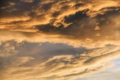 在雷暴以后的天空在春天 库存照片