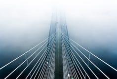 在雾的桥梁 免版税图库摄影