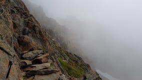 在雾的足迹 免版税图库摄影