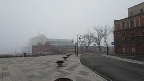 在雾的都市风景 影视素材