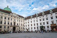 在霍夫堡宫的皇家财宝在维也纳 库存照片