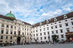 在霍夫堡宫的皇家财宝在维也纳 免版税图库摄影