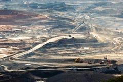 在露天开采矿的联合矿业 免版税图库摄影