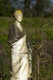在露天的罗马雕象,在戴恩考古学站点,希腊, 库存图片
