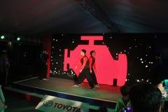 在露天舞台的舞蹈表现 免版税图库摄影