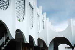 在霹雳州状态清真寺围住细节在怡保,霹雳州,马来西亚 库存图片