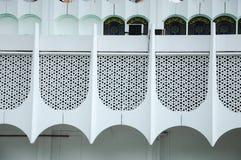 在霹雳州状态清真寺围住细节在怡保,霹雳州,马来西亚 免版税库存图片