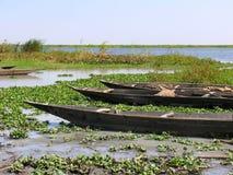 在青尼罗河的小船 免版税库存图片