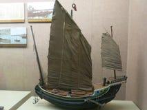 在青岛博物馆安置的航行模型 库存照片