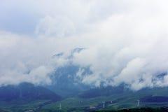 在青海西藏高原的动力设备 库存照片