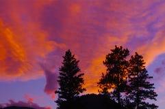 在青玉山的日落,蒙大拿 库存照片
