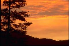 在青玉山的日落 库存照片