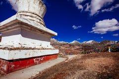 在青藏高原的山 免版税库存照片