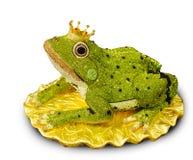 在青蛙的典雅的被设计的金刚石在白色背景,青蛙p 库存图片