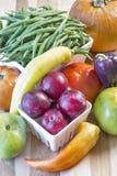 在静物画的新鲜的庭院菜 库存图片