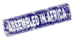 在非洲装配的难看的东西构筑了被环绕的长方形邮票 库存例证
