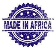 在非洲邮票封印做的被抓的织地不很细 向量例证
