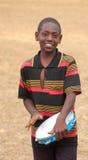 在非洲-村庄Pomeri的孩子的面孔的神色 免版税库存图片