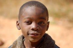在非洲-村庄Pomeri的孩子的面孔的神色 库存图片