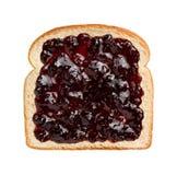 在面包的混杂的莓果蜜饯 库存照片