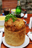 在面包的豆汤 免版税图库摄影