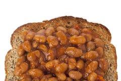 在面包的辣豆汤 图库摄影