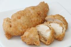 在面团的炸鸡 免版税图库摄影