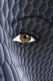 在面孔绘的蛇皮纹理 库存照片